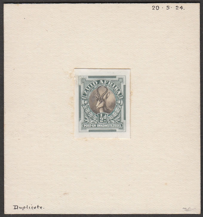 SOUTH AFRICA 1926 ½D DE LA RUE COLOUR PROOF, RARITY!