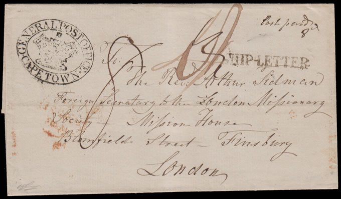 Cape of Good Hope 1848 Lovely London Missionary Society Letter