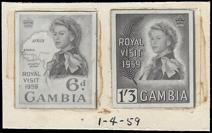 GAMBIA 1961 ROYAL VISIT PRINTERS RECORD PHOTO-ESSAYS, UNIQUE