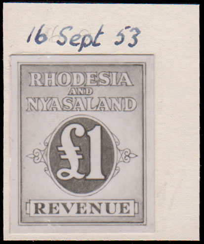 RHODESIA & NYASALAND REVENUES 1953 PRINTERS RECORD PHOTO-ESSAY