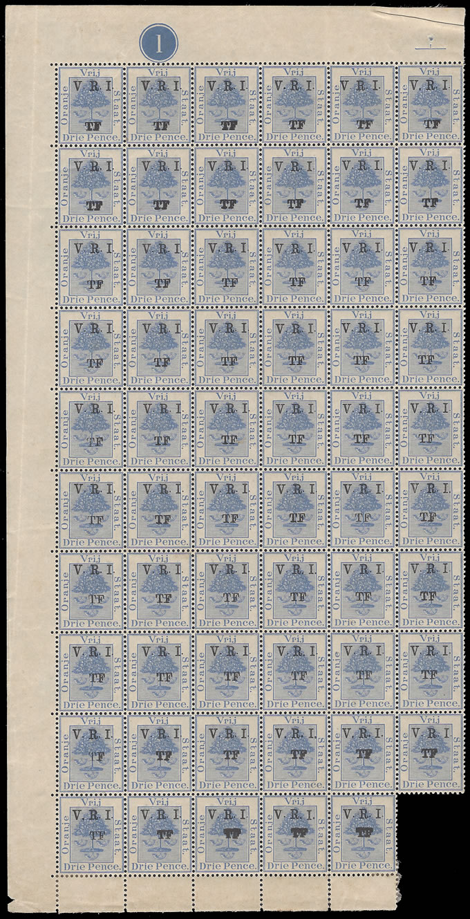 Orange Free State Telegraphs 1900 3d Pane Double Ovpts Mix Stops