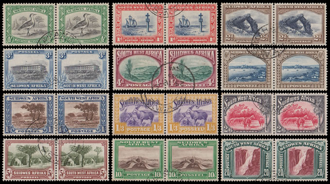 South West Africa 1931 Pictorials Set ½d - 20/- Perf UP VF/U
