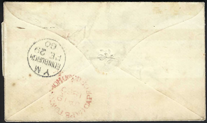 Cape of Good Hope 1860 1d Triangle Soldier's Letter, Rare