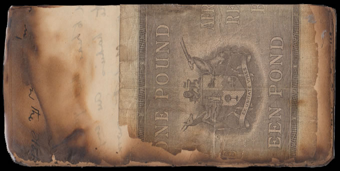 SOUTH AFRICA 1937 SAA GERMISTON CRASH COVER WITH £1, RARE