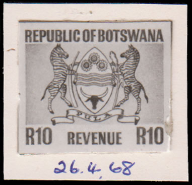 BOTSWANA REVENUES 1968 PRINTERS RECORD BOOK PHOTO-ESSAY