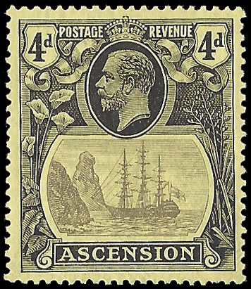 ASCENSION 1924 BADGE ISSUE 4D BROKEN MAINMAST VF/M