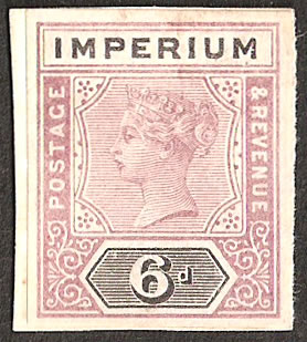 Zululand 1894-96 6d Imperium Essay Imperf, Near Colours of 6d
