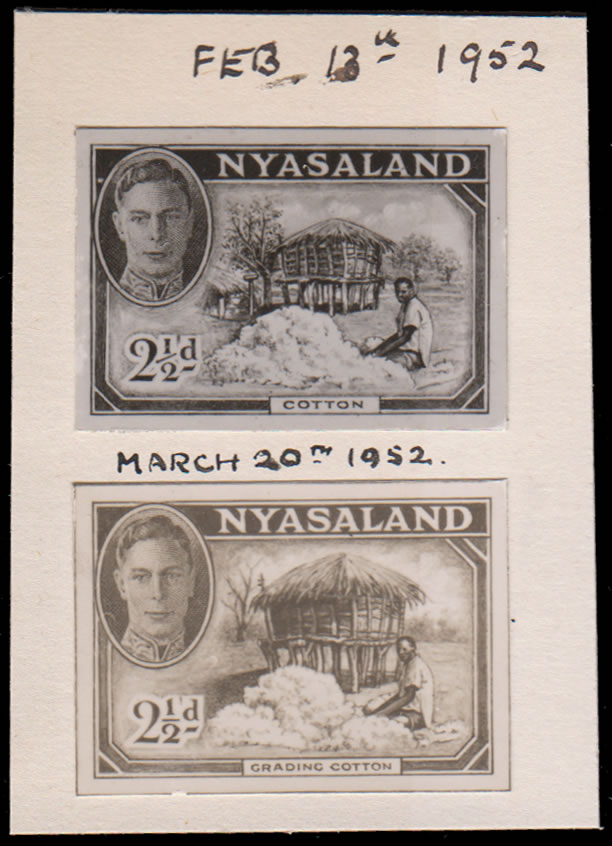 Nyasaland 1952 KGVI Printers Essays, Proposed Extra Value