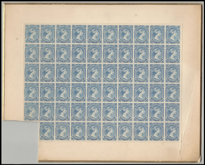 TRANSVAAL 1878 QV ½D IMPERF SAMPLE PANE, MAGNIFICENT