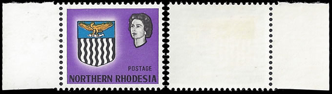 NORTHERN RHODESIA 1963 ½D VALUE OMITTED VF/M, RARITY!