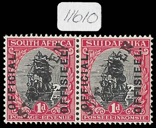 South Africa Officials 1926 1d Receiving Authority Specimen Rare