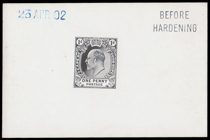 CAPE OF GOOD HOPE 1902 KEVII 1D DIE PROOF BEFORE HARDENING