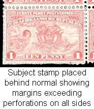 Transvaal 1895 1d Penny Postage Imperforate, Rare