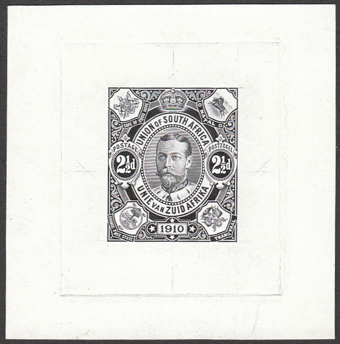 South Africa 1910 2½d Union Commemorative Die Proof