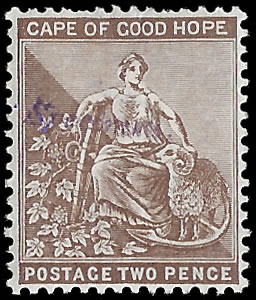 CAPE OF GOOD HOPE 1897 2D SPECIMEN TYPE SA1, RARE