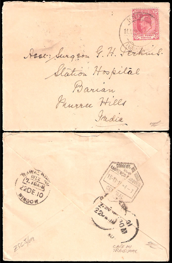 South Africa 1910 Interprovincial KEVII Franking