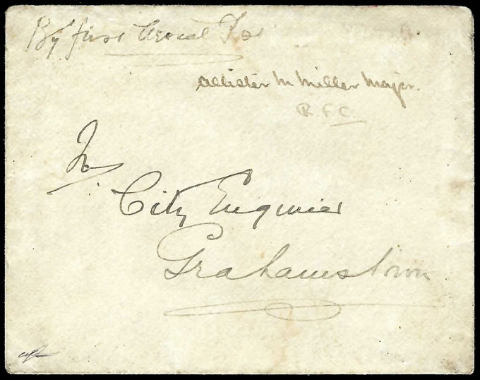 South Africa 1917 Major Miller's Recruiting Tour, Signed Letter - Click Image to Close