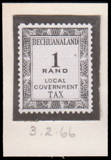 BECHUANALAND REVENUES 1966 PRINTERS RECORD BOOK PHOTO-ESSAY